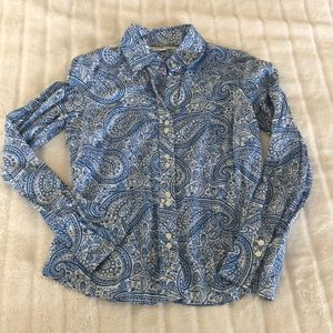 Tommy Hilfiger paisley button down shirt
